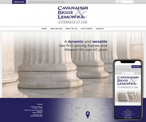 Umbrella website for Cavenaugh, Biggs  Lemon.