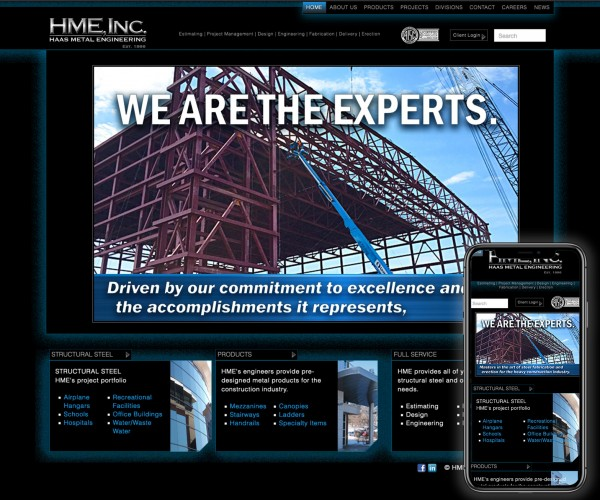 Umbrella website for Haas Metal Engineering.