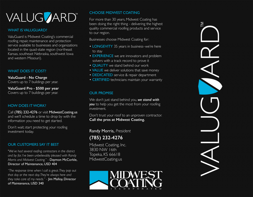 2015 ValuGuard Brochure   Front Outside